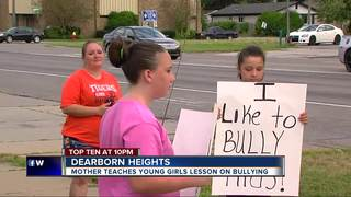 Mother teaches girls lesson on bullying