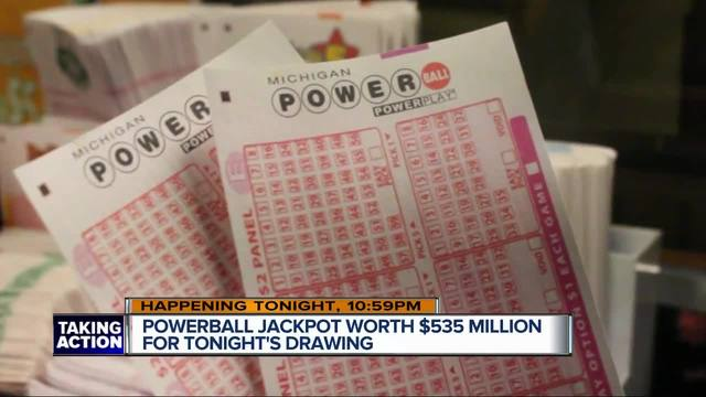 Saturday's Powerball jackpot swells to $535 million