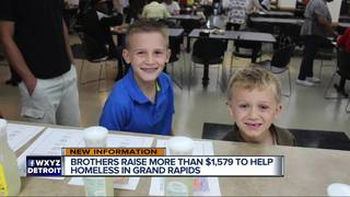 Young brothers raise $1,500 to help the homeless
