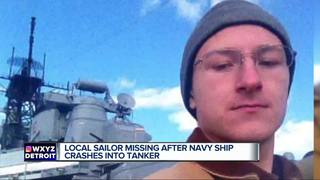 Local sailor missing in USS McCain collision