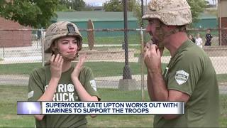 Marines puts Kate Upton through her paces