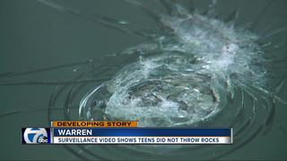 Video shows teens didn't throw rocks on I-696
