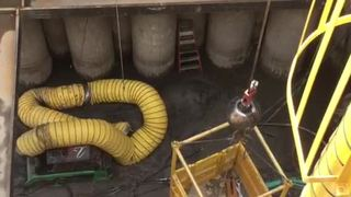 9 feet of sewage enters Fraser sinkhole trench