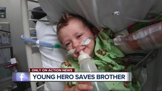 10-year-old saves brother, learned how in movie