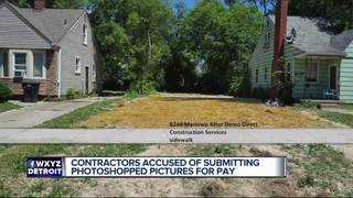 Contractors suspended for altering photos