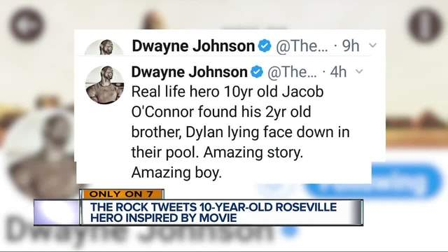 Inspired by The Rock, boy saves brother from drowning