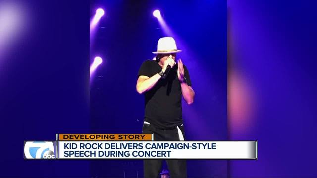 Kid Rock talks politics during MI show