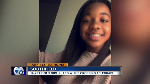 14-year-old girl killed in car-pedestrian accident on Telegraph Road