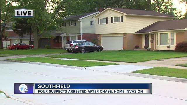 Four home invaders nabbed by Southfield police after short chase