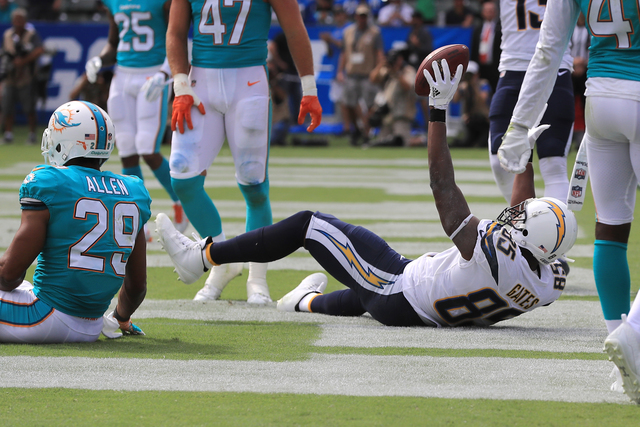 LA Chargers TE Antonio Gates sets career National Football League record