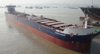 New 740-foot freighter sets sail for Great Lakes