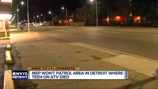 MSP won't patrol where Detroit teen on ATV died