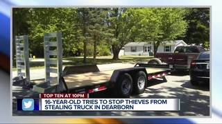 16-year-old tries to stop thieves stealing truck