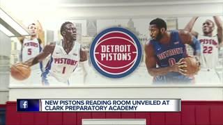 School wins Pistons reading room