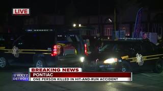 Man killed after hit-and-run in Pontiac