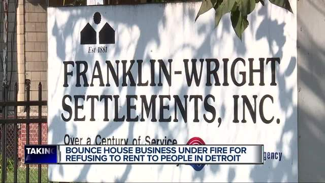 Bounce house company owner refusing to rent to Detroit organization
