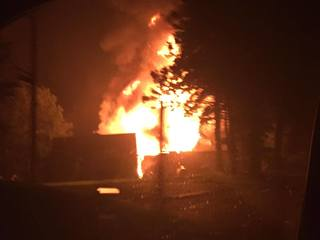 Photos: Massive fire at Lyon Twp motorcycle club