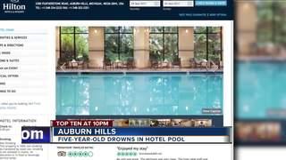 5-year-old boy drowns in hotel pool
