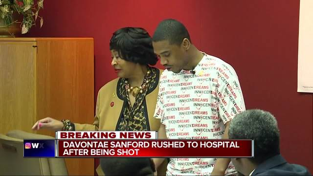 Davontae Sanford shot, rushed to hospital