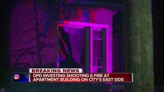 DPD investigating shooting & fire on east side