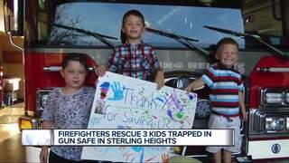 Children saved after getting locked in gun safe