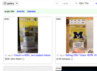 Warning about fake tickets issued for UM-MSU
