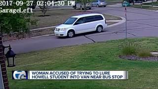 Stranger in mini-van tries to get student In car