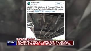 MDOT demolishing bridge after crash