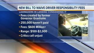 Bill would waive MI driver responsibility fees