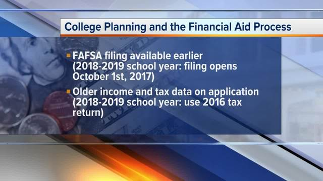 Students get to start the college financial aid application process early