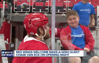 Red Wings make a wish come true for young fan