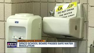 Detroit school board passes safe water proposal