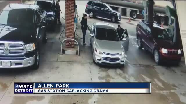 Video shows tanker driver stop attempted carjacking at Allen Park gas station