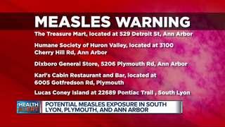 Measles alert in Oakland, Livingston & Washtenaw