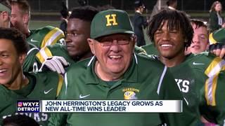 Herrington's legacy grows as wins record set