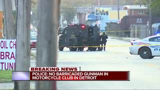 Police: No barricaded gunman at Detroit club