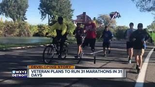 Wounded vet running 31 marathons in 31 days