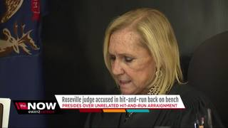 Judge accused in hit-and-run back on bench