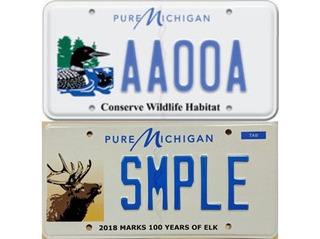 Elk replacing loon on Michigan wildlife plates
