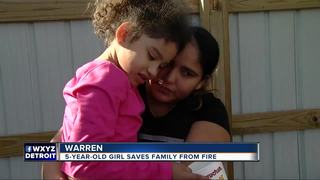 5-year-old saves family from Warren fire