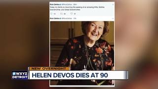 Helen DeVos who backed education, dies at 90