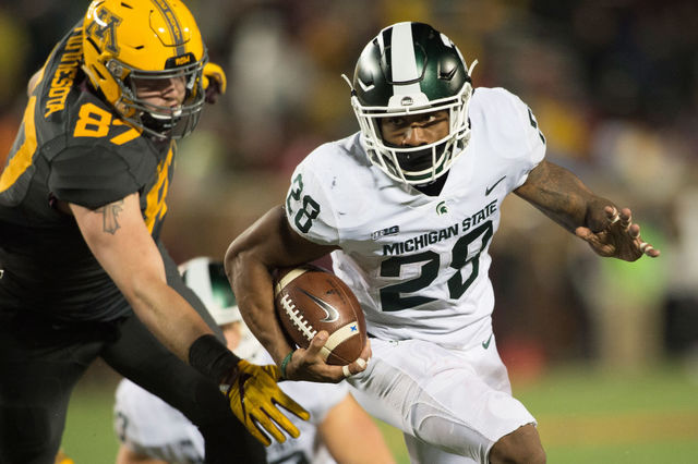 Late touchdowns lift Michigan State over Indiana