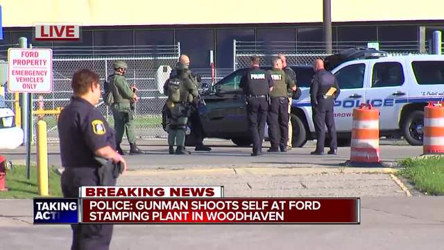 Gunshots reported inside Ford Stamping Plant in Woodhaven