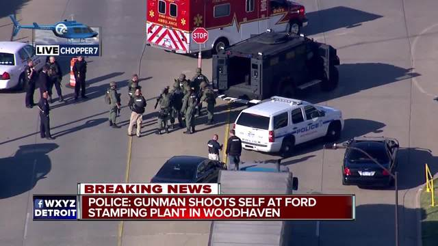 Man shoots, kills self at Ford plant in MI
