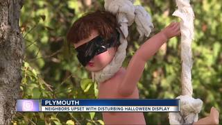 Some call Plymouth Halloween display disturbing