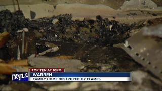 Family displaced after fire rips through home