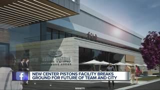 Pistons break ground on new Detroit headquarters