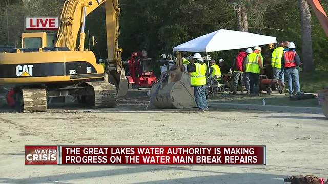 Burst main almost repaired; boil-water advisory to continue through weekend
