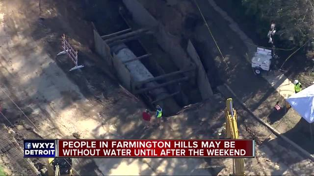 Part of Farmington Hills to remain under boil water advisory until Monday