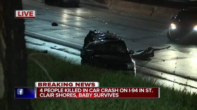 Toddler is lone survivor in Detroit-area crash